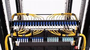 1u Rack Mount Fiber Optic Patch Panel Cabling Solution