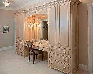 Double Armoire Makeup Station Traditional Closet