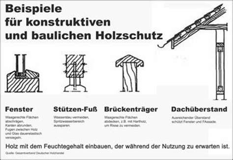 Baulicher Holzschutz by Das Umwelthaus Konstruktive Oder Bauliche Ma 223 Nahmen Die