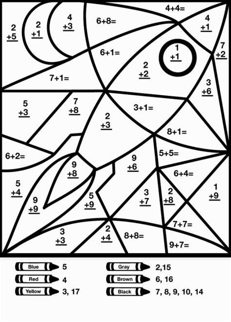 math coloring sheet math worksheets math coloring