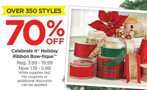 michaels 70 off ribbon up to 58 off trees printable