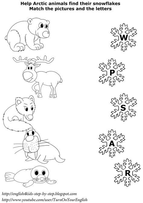 north animals matching worksheet esl worksheet english