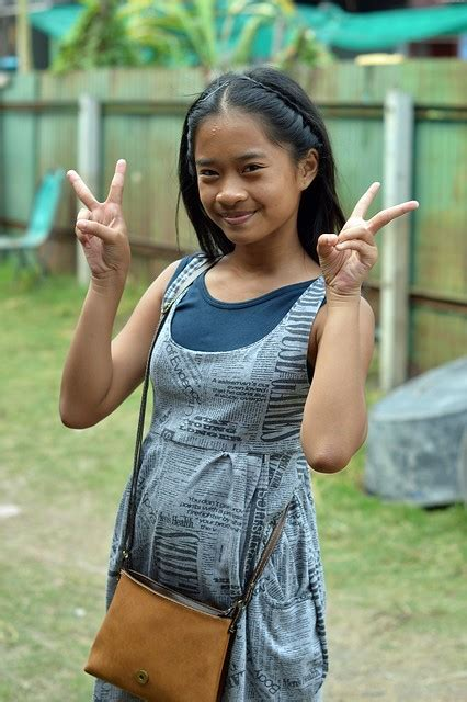 Pretty Preteen Girl Sends You Peace A Photo On Flickriver