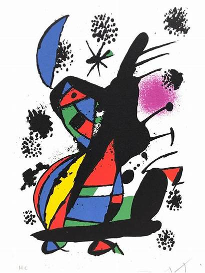 Miro Joan Lithograph Heureux Vach Hc Signed