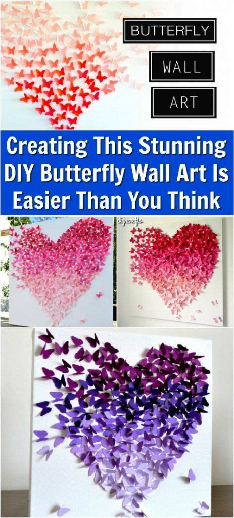Diy wall hangings are very popular among crafters. Creating This Stunning DIY Butterfly Wall Art Is Easier Than You Think   Diy butterfly ...