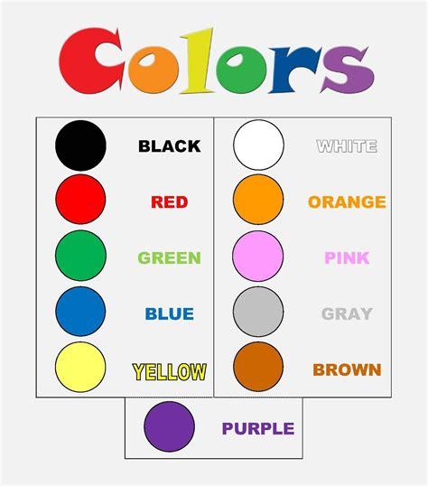 English Corner Of Cifuentes » Colors (1st Grade