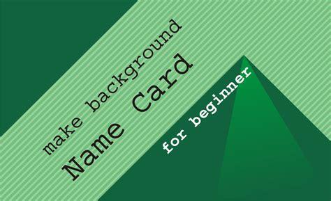 membuat background kartu nama  coreldraw