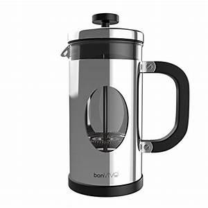 French Press Kaffeepulver : bonvivo gazetaro i design kaffeebereiter und french press aus silber gl nzenden edelstahl und ~ Orissabook.com Haus und Dekorationen