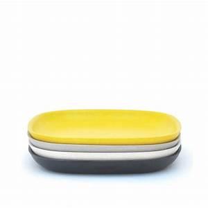 Set De Table En Bambou : set de 4 grandes assiettes en fibre de bambou biod gradable ~ Premium-room.com Idées de Décoration
