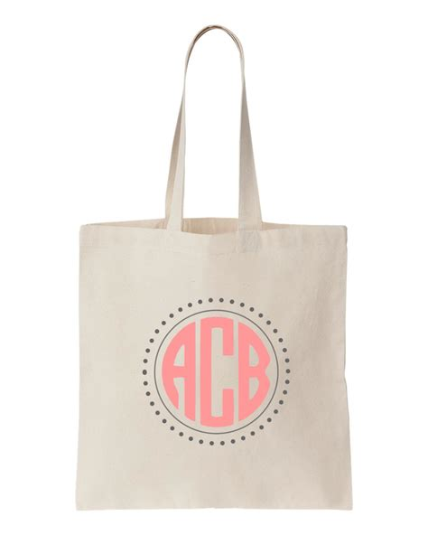 personalized canvas tote bag  monogram personalized