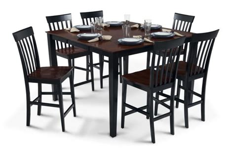 bob s furniture pub table with 18 quot leaf 6 counter