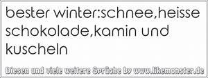 Sprüche Winter Schnee : bester winter schnee heisse schokolade kamin und kuscheln tolle spr che und zitate auf www ~ Watch28wear.com Haus und Dekorationen