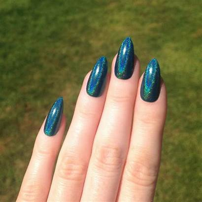 Nails Acrylic Nail Stiletto Teal Designs Pointy