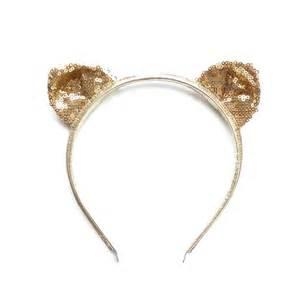 cat ear headbands sparkly cat ear headband by woodstock notonthehighstreet
