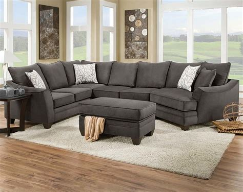 flannel seal  piece sectional sofa traditional living