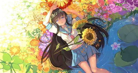 flower girl  wallpaper engine anime