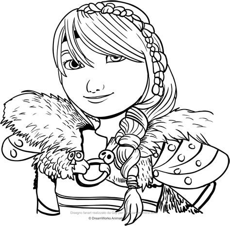 drawing astrid  face coloring page idea disegni da