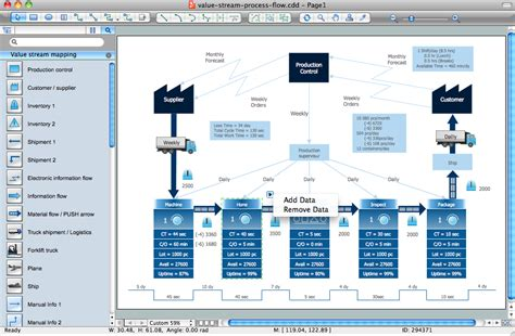 stream process flow diagramming software
