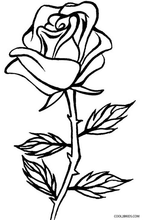 printable rose coloring pages  kids