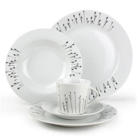 assiette a pates ikea service vaisselle noir et blanc design en image