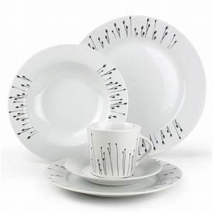 Service Assiette Design : service vaisselle noir et blanc design en image ~ Teatrodelosmanantiales.com Idées de Décoration