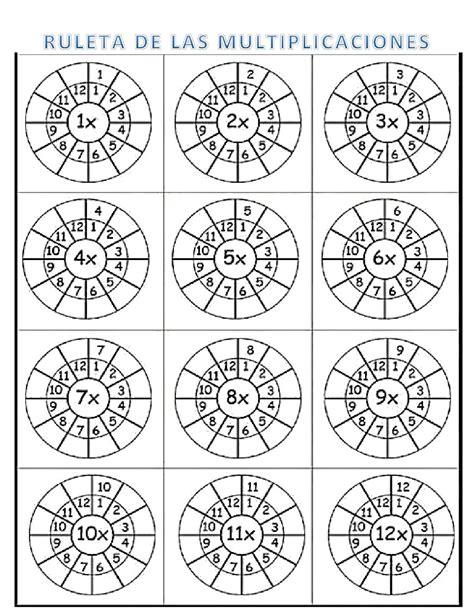 ruleta de la multiplicacin