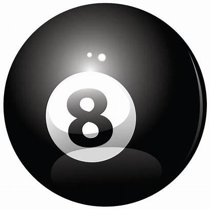Ball Billiard Eight Clipart Vector Balls Transparent