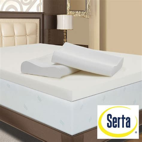 serta memory foam mattress topper serta ultimate 4 inch memory foam mattress topper with