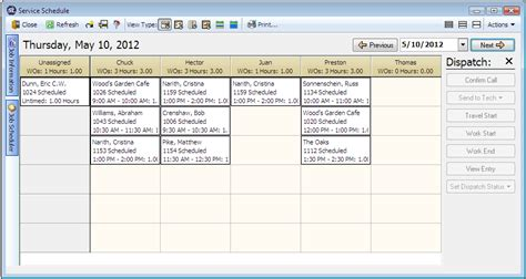 serviceledger software features service scheduling