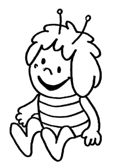 disegni  bambini ape maia seduta da colorare gratis