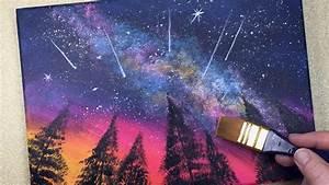 Galaxy, Shooting, Stars, Easy, Acrylic, Painting, 10, Mins
