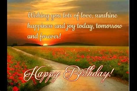 love sunshine joy  happiness  birthday wishes