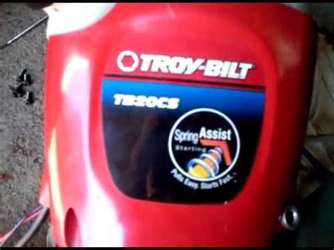 troy bilt starter rope  youtube