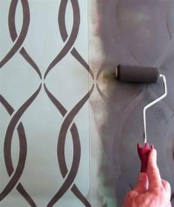 Schablonen Für Wände : wand streichen ideen und techniken f r moderne wandgestaltung freshouse ~ Sanjose-hotels-ca.com Haus und Dekorationen