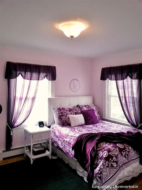 Bedroom Decor Ideas In Purple by Pretty In Purple Bedroom Exquisitely Unremarkable