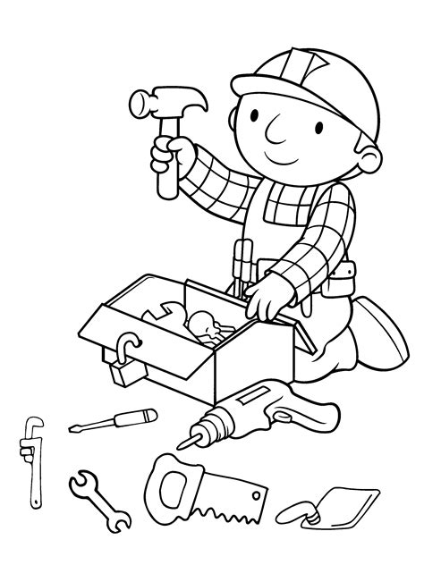 Builder Free Print by Bob The Builder Coloring Pages To And Print For Free