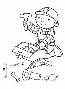 tv coloring page - bob the builder coloring page tv series coloring page