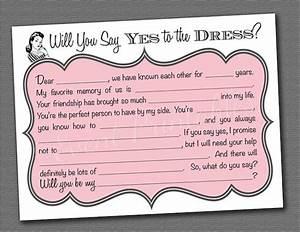 diy printable will you be my bridesmaid cards by With will you be my bridesmaid letter template