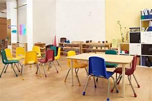 Montessori Kindergarten Preschool Classroom — Stock Photo ...