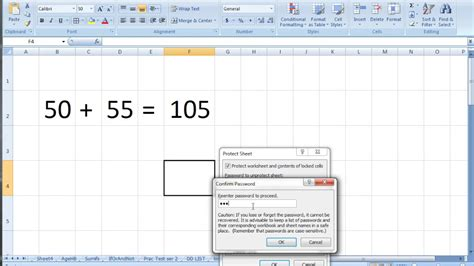 protect sheet locking cell and hide formula in ms excel