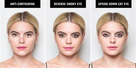 Reverse Makeup Trends How To Do A Reverse Smoky Eye And Upside Down Cat Eye