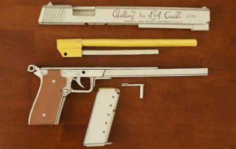 454 Casull Automatic Pistol Paper Model