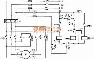 Three-phase Motor Dual-speed 2y    Connection Automatic Speed Control Circuit