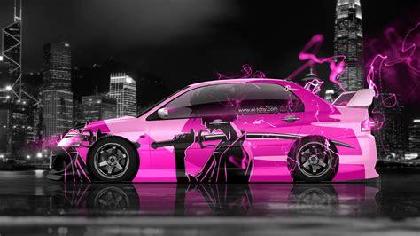 Hd wallpapers and background images. 4K Mitsubishi Lancer Evolution JDM Anime Samurai ...