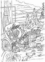 Coloring Country Living Pages Crops Harvest sketch template