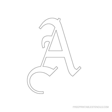 printable  english letter stencils  printable