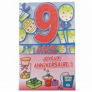 Carte Anniversaire Fille 9 Ans : carte anniversaire fille 9 ans nanaryuliaortega blog ~ Melissatoandfro.com Idées de Décoration