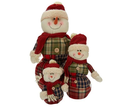 piece snowman family  plaid sweaters  valerie