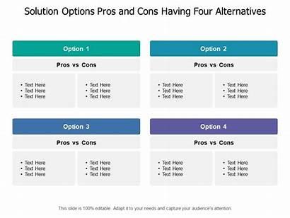 Cons Pros Options Solution Alternatives Having Four