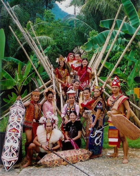 indigenous bidayuh people   traditional costume